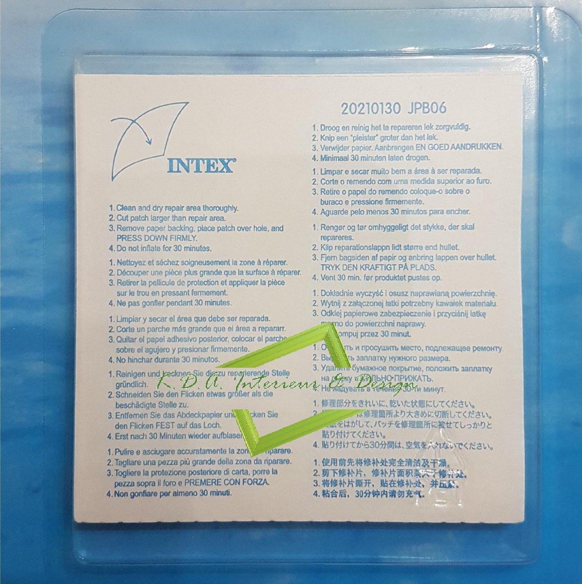 Reparatie patch - pleisters Intex voor zwembaden - opblaasartikelen