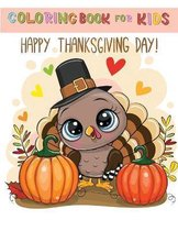 coloring book for kids happy thanksgiving day