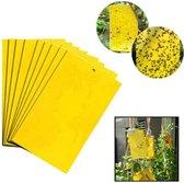 GEAR 3000® vliegenvanger plakstrip 5 stuks - vangplaten - muggenvanger - rouwvliegjes - insectenvanger - fruitvliegjes vanger