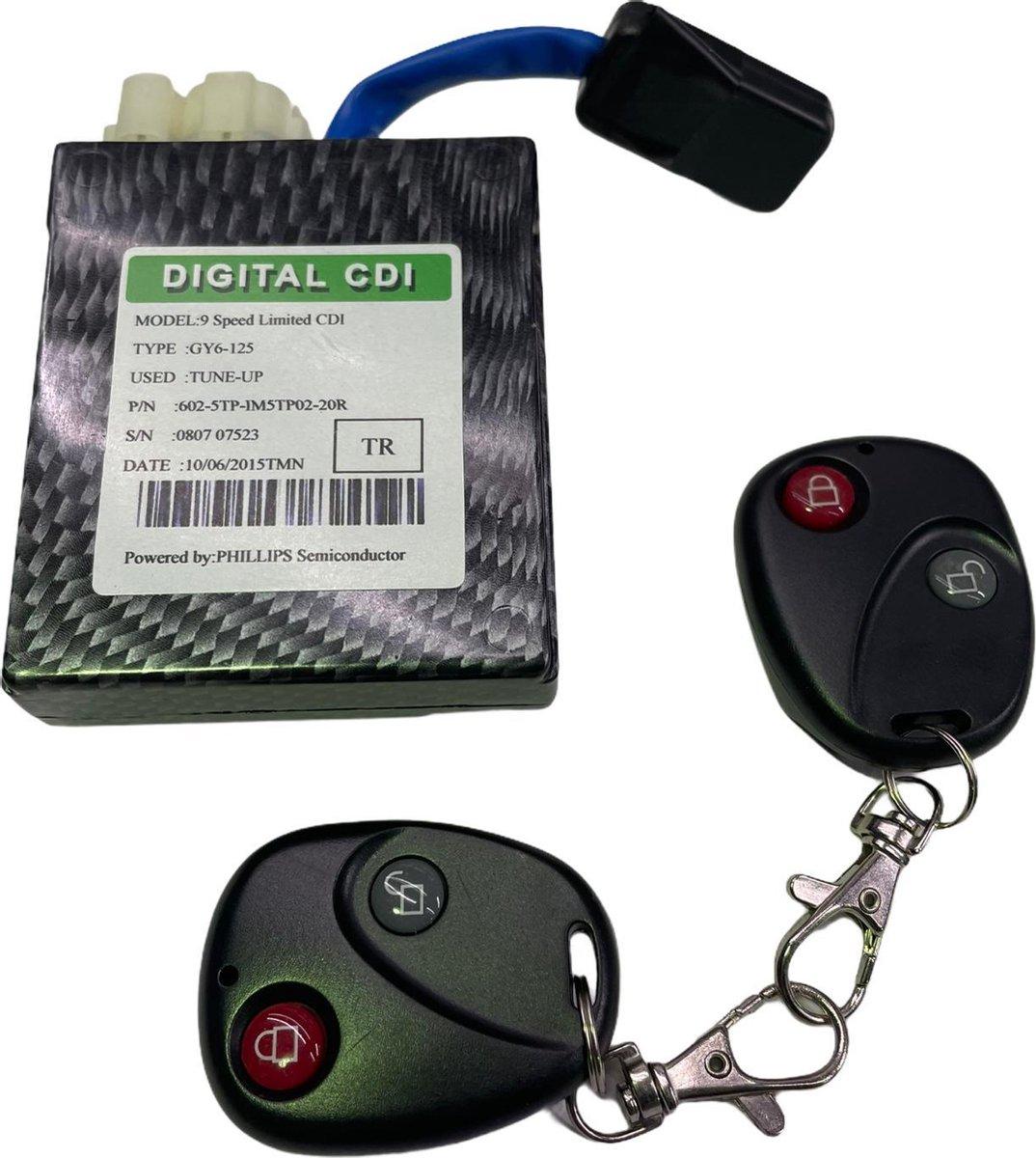 CDI met 2 afstandsbedieningen China Scooter | 9 Standen | Racing CDI powered by PHILIPS | Voor alle