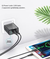 Pro-Care Excellent Quality™ Qi Dubbele 18W USB POWER PD FAST CHARGER - 5V.2/4A - Charging LED Display -Over Charge Beveiliging - Kortsluiting Beveiliging - Over Heat Beveiliging