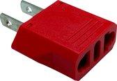 Reisstekkers EU naar USA - Europa naar Amerika - Reisadapter - Reisstekker Amerika - Compact formaat - Lichtgewicht - 1 stuk - Rood