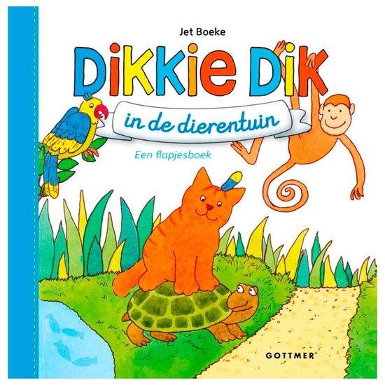 Boek cover Boeke, Jet - Dikkie Dik in de dierentuin (blauw) van Jet Boeke (Onbekend)