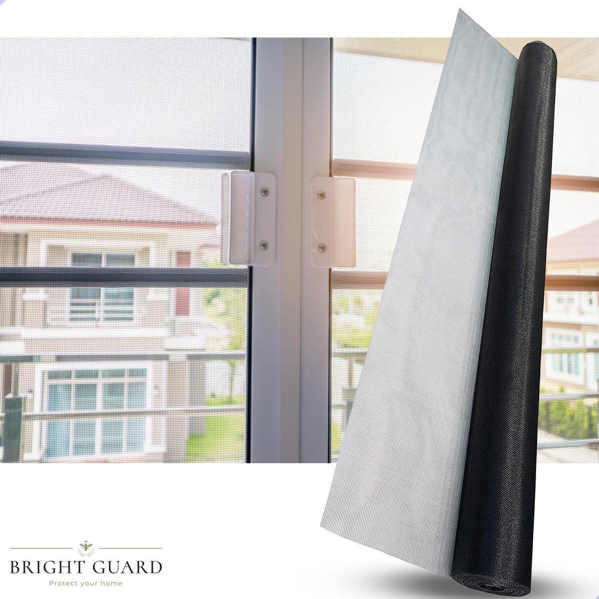 Bright Guard  Horrengaas voor ramen - 130 x 150 cm - Zwart - Raamhor - Vliegengaas - Muggengaas - In