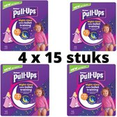 Huggies - pull-ups - pampers -4 x 15 broekjes - cinderella -1 tot 2.5 jaar -  8 - 17 kg optrekluiers - toilettraining - luiers