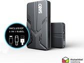 Sanbo X12 PRO - Jumpstarter - Incl. luxe opbergtas - 16.000 MaH batterij - Fastcharge - 600A - 4 in 1 starthulp - Powerbank - SOS noodlicht - Zaklamp - Starthulp - Jumpstarter voor auto -