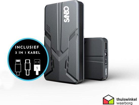 Sanbo® X12 PRO Jumpstarter - 16.000 MaH batterij
