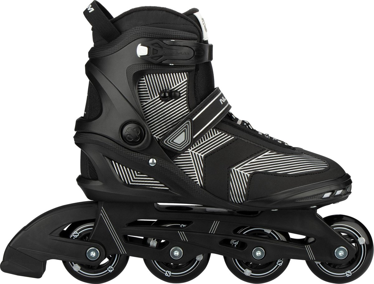 Nijdam Inline Skates Senior - Geo Glitz - Zwart - 39