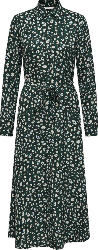 ONLY ONLGERRY L/S SHIRT DRESS CS WVN Dames Jurk - Maat M