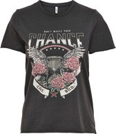 ONLY ONLLUCY LIFE REG S/S COUNTRY TOP BOX JRS Dames T-shirt - Maat M