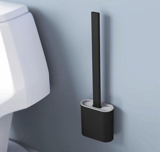 WC borstel | WC borstel met houder | Vrijstaand| Flexibel | Zwart | Inclusief ophangsysteem