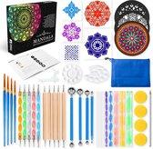 Happy Painter® Mandala Dotting Starter Tools Set 45 delig Dot Painting incl. opbergtas en Tutorial in luxe verpakking