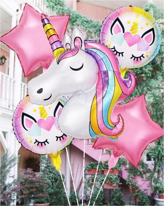 Folie ballonnen 7-delig eenhoorn - unicorn