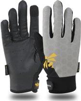 Beeletix Full Finger Sport & Fitness Handschoenen - Touchscreen Tip - CrossFit - Calisthenics - Krachttraining - Zwart/Grijs - Maat L