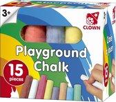 15x gekleurd stoepkrijt voor kinderen - Krijt in verschillende kleuren