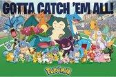 Pokémon poster - 61 X 91,5 cm   -Gotta catch 'em All- Pikachu- Mew