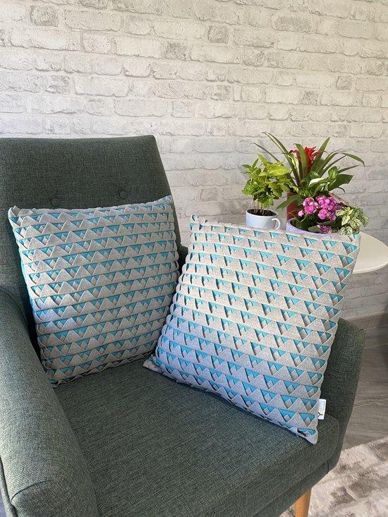 Youniq, 2 STUKS Decoratieve Sierkussen, 45x45 cm, 3 dimensionaal Kussens...