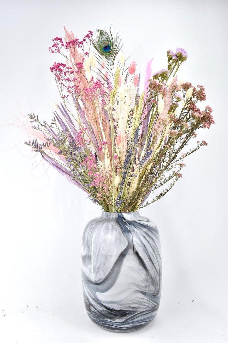 Droogbloemen - boeket 80cm - Pastel