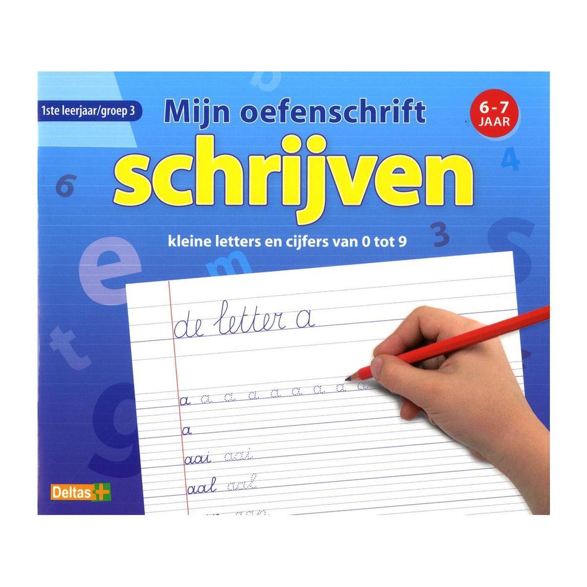 Mijn oefenschrift - Schrijven kleine letters en cijfers - 6-7 jaar