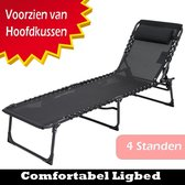 Opvouwbaar Ligbed   Ligstoel   Relaxstoel   Weersbestendig   Camping / Tuin / Zwembad / Balkon / Terras / Strand   Incl. Hoofdkussen   Verstelbaar   Luxe