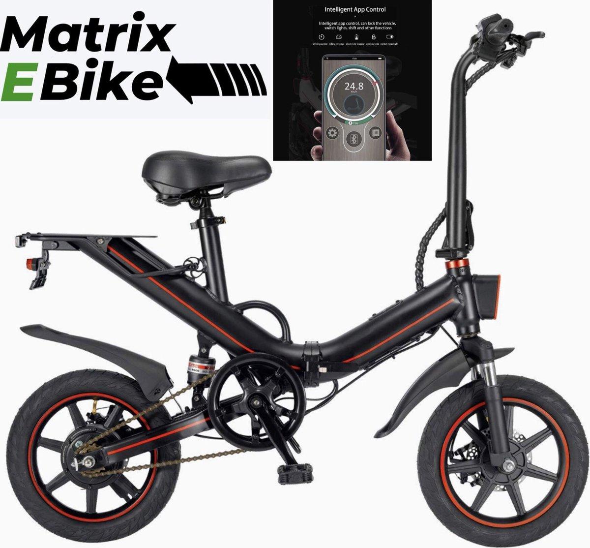 Matrix E Bike V5 - 14Inch - Elektrische Fiets - E Bike - Elektrische Vouwfiets - 500W - 15Ah Panason