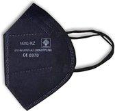 10 FFP2 NR mondmaskers Zwart | TechHealth | Voldoet aan EN 149:2001+A1:2009 | KN95 | Ademhalingsbeschermingsmasker