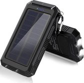 Lucky One - Solar Powerbank 20.000 mAh - Waterdicht - Gratis 3 in 1 Kabel - Zwart