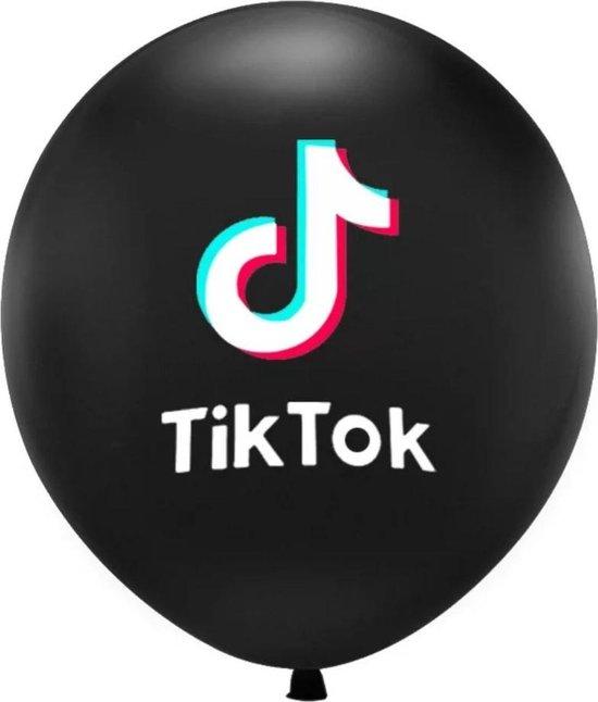Tik Tok Ballonnen Zwart 10 Stuks Themafeest/Tienerfeest/Tiktok party