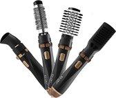 ENZO Fohnborstels - Föhnborstel -fohn - warmeluchtborstel - professionele 4 in 1 Föhnborstel- Hetelucht borstel - voor krullen , golven en stijl haar - Hete luchtborstel - haardroger - haardroger met borstel - roterende Föhnborstel
