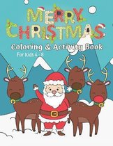 Christmas Activity & Coloring Book for Kids Ages 4-8
