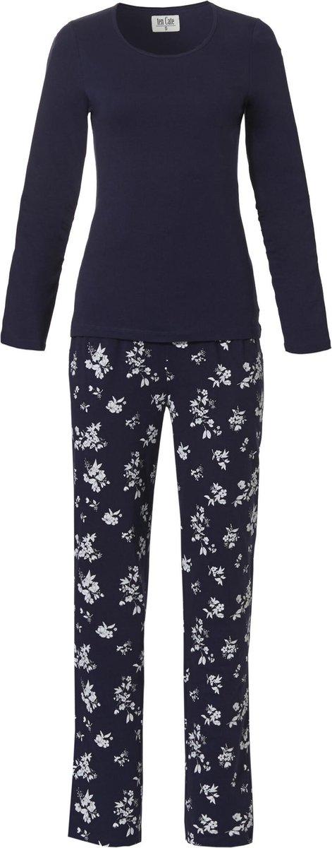 Ten Cate - Goodz Pyjama Flower - maat L - Blauw Bloemenprint