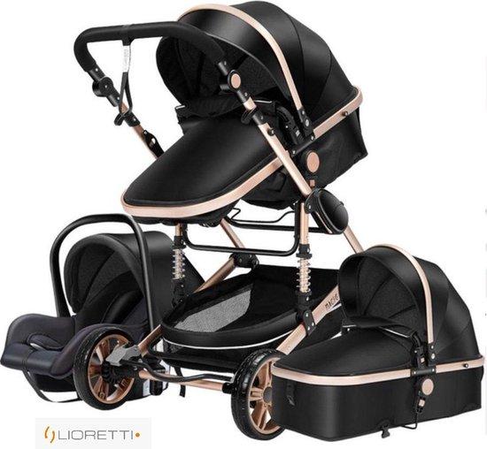 Product: Magic® Luxe Baby Buggy 3 in 1 | Baby Wagen | Kinderwagen met stoel en wieg | Hoge Kwaliteit | Zwart, van het merk Magic