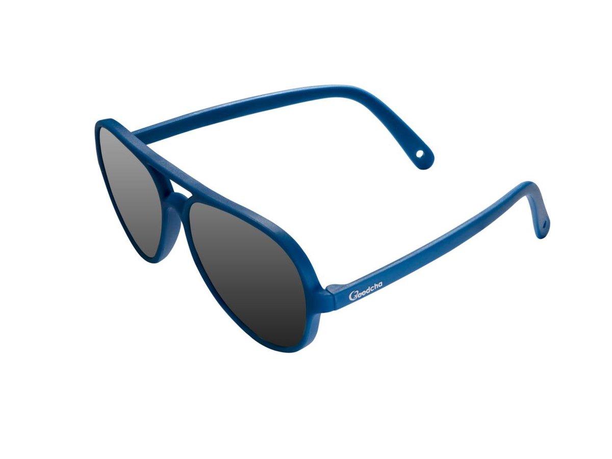 Goodcha Baby zonnebril 0-3 jaar - Pilotenbril met afneembaar bandje 'The Blue Ocean' - Peuter zonneb