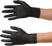 Handschoenen Wegwerp Nitril - Latex vrij - Ongepoederd - zwart - maat L - 100 stuks