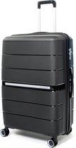 Attitudez EliteZ Reiskoffer Large Zwart 76cm - TSA-slot - Uitbreidbaar