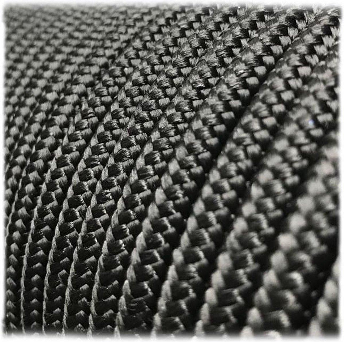 6MM PPM - Black - 10 meter - #016- dubbel gevlochten