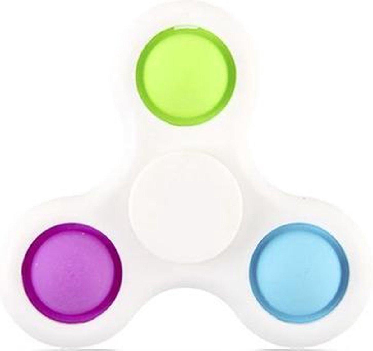 Simple dimple spinner   fidget toys   pop it - 2 in 1