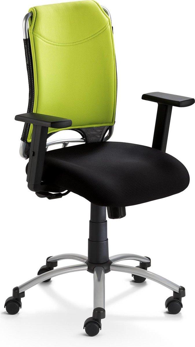 Nancy's Griffin Bureaustoel - Draaistoel - Hoogte Verstelbaar - Kunststof - Gestoffeerd - Groen - Rood - Zwart - 65 x 50 x 98-107 cm