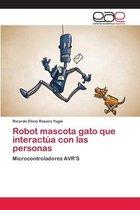 Robot mascota gato que interactua con las personas