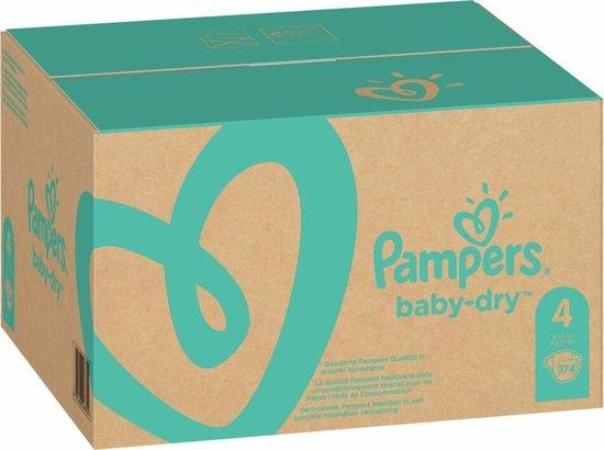 Pampers Baby-Dry Luiers - Maat 4 (9-14 kg) - 174 stuks - Maandbox - Pampers