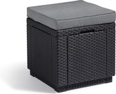 Allibert Cube tafel - 42x42x39cm - Grafiet