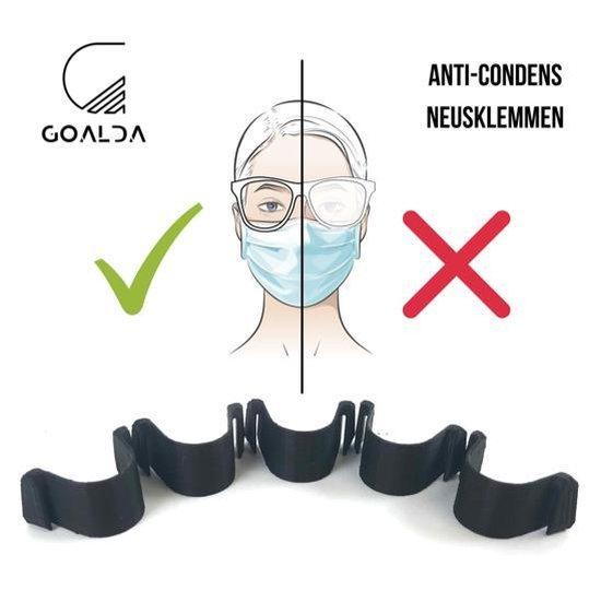 Neusclip Voor Mondmaskers – Neusklemmen Voor Mondmaskers – Neusclip – Bril - Neusbeugel - Mondkapje Brildrager - Mondkapje - Neusklem -Set van 5 - Trending Products