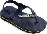Havaianas Baby Brasil Logo II Unisex Slippers - Navy Blue/Citrus Yellow - Maat 19/20