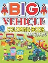 Big Jumbo Vehicle Coloring Book For Kids 2-4