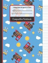 Composition Notebook: Trains & Buses College Ruled Notebook for Writing Notes... for Kids, School, Students and Teachers