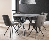 Ronde tafel Edison Betonlook 120 cm - Inclusief Montage