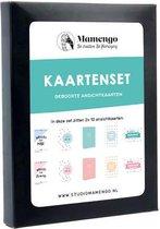 20x geboorte kaartjes (A6 formaat) - Kaartenset - Ansichtkaarten - Roze - Blauw - Studio Mamengo