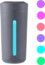 Aroma Diffuser 3 in 1 + Luchtbevochtiger Hervulbaar voor Thuis of in de Auto | 3 in 1 | 230 ML | 7 Kleur LED Verlichting | USB Ultrasone | Grijs