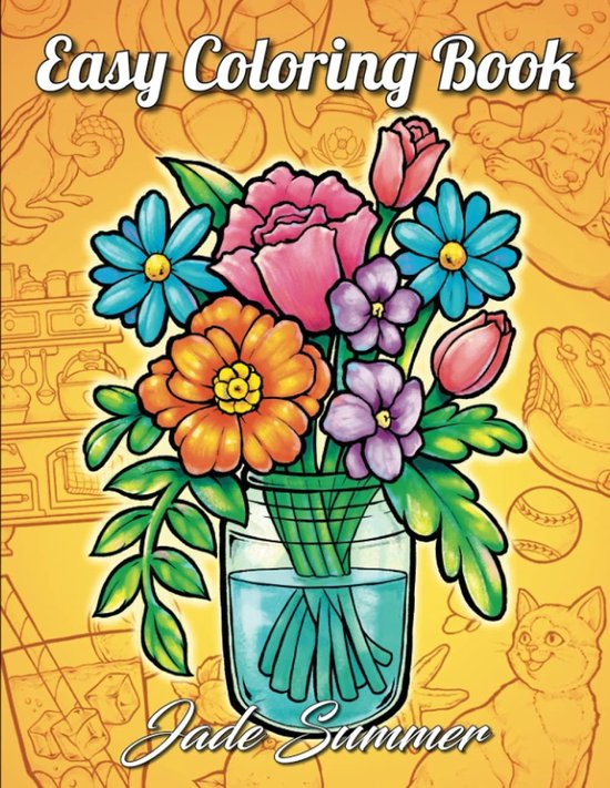 Easy Coloring Book - Jade Summer