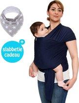 Baby Garden draagdoek donkerblauw - Ergonomisch - Original - Gratis slabbetje